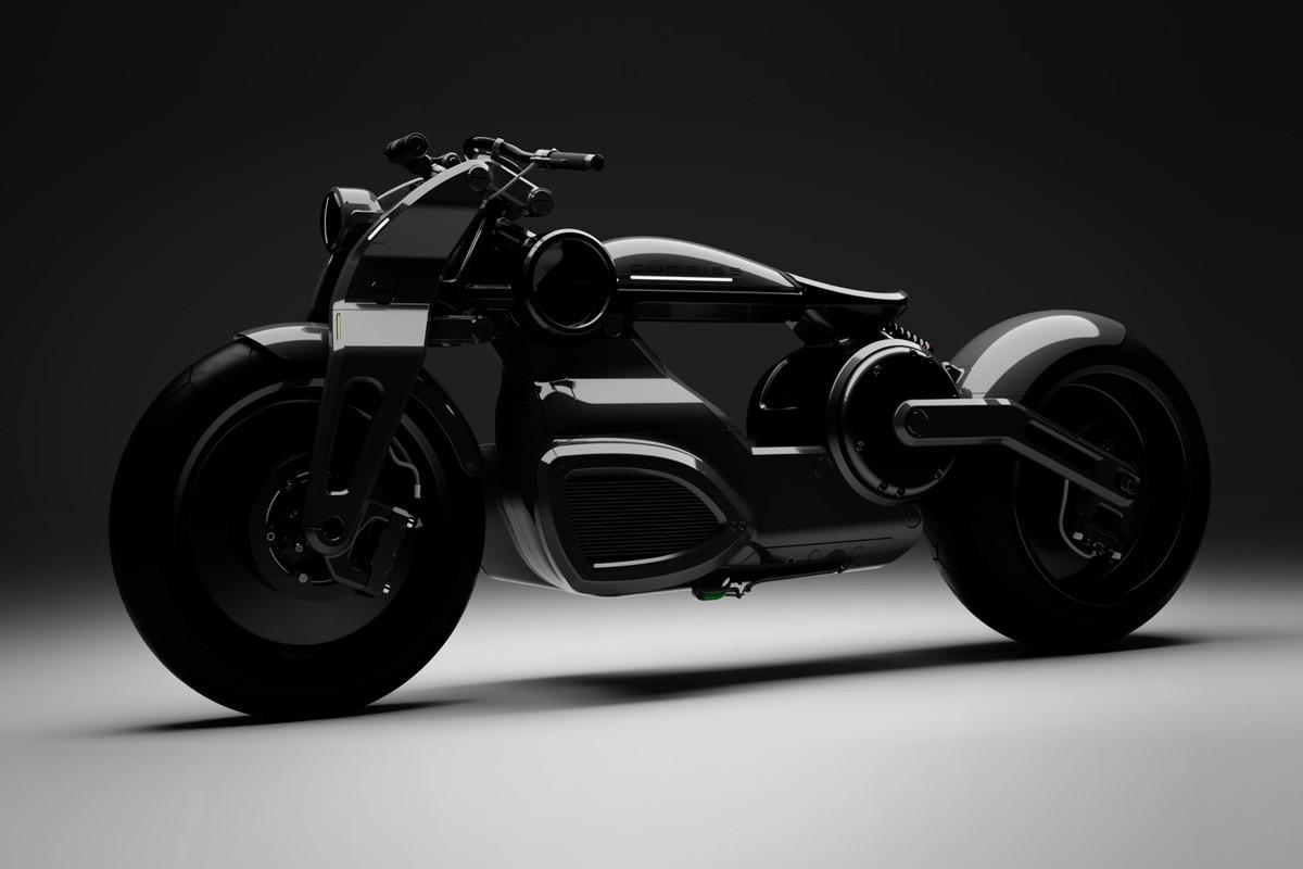 A Zeus Bobber, da Curtiss Motorcycles, é uma mistura de Tron com Blade Runner (Foto: Divulgação)