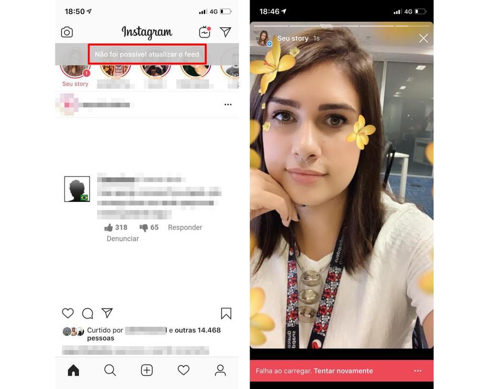 Instagram fica fora do ar nesta quinta-feira (13) — Foto: Reprodução/TechTudo