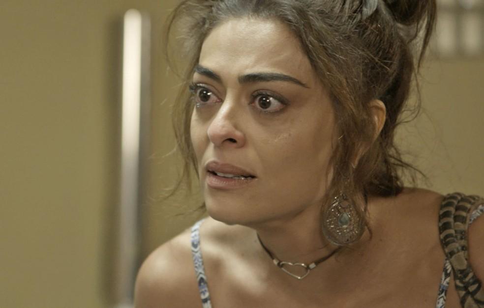 E Bibi, que não leva desaforo para casa, alfineta Jeiza sobre a situação do marido (Foto: TV Globo)