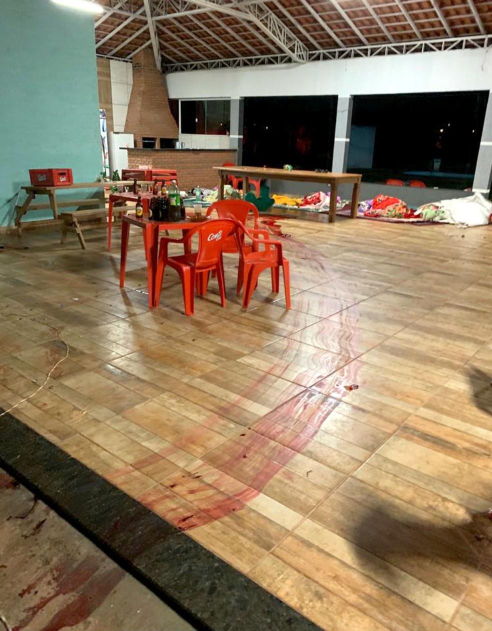 Crime aconteceu durante churrasco em uma chácara em Cândido Mota — Foto: Arquivo pessoal