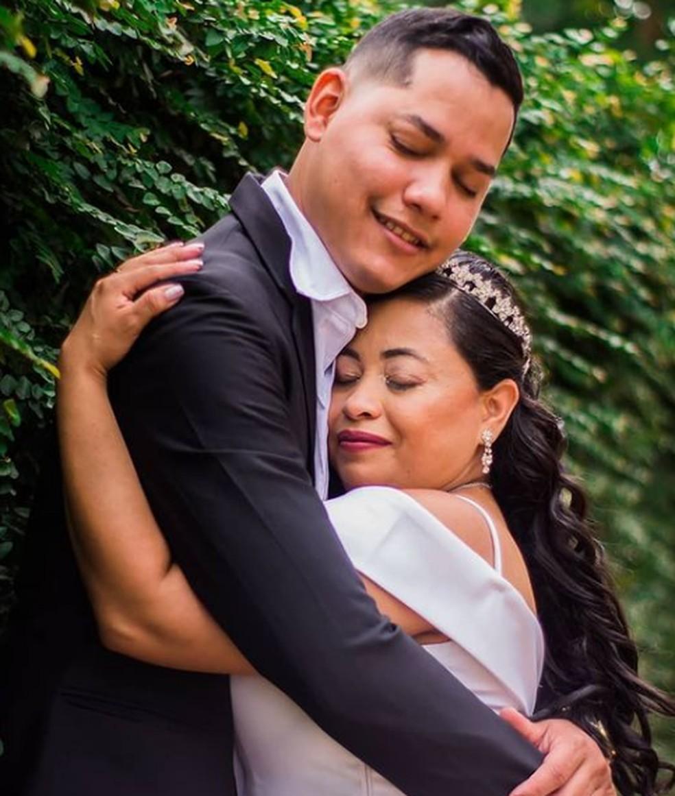 Funcionários da área da saúde se conhecem durante pandemia e se casam em RO — Foto: Instagram / arquivo pessoal