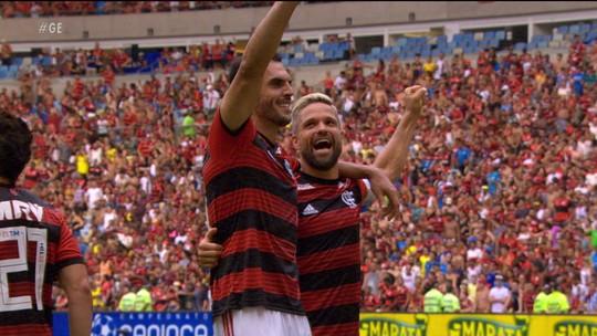 Em dia de reencontro com Maracanã e brilho de Diego, Flamengo consegue vitória sobre Bangu