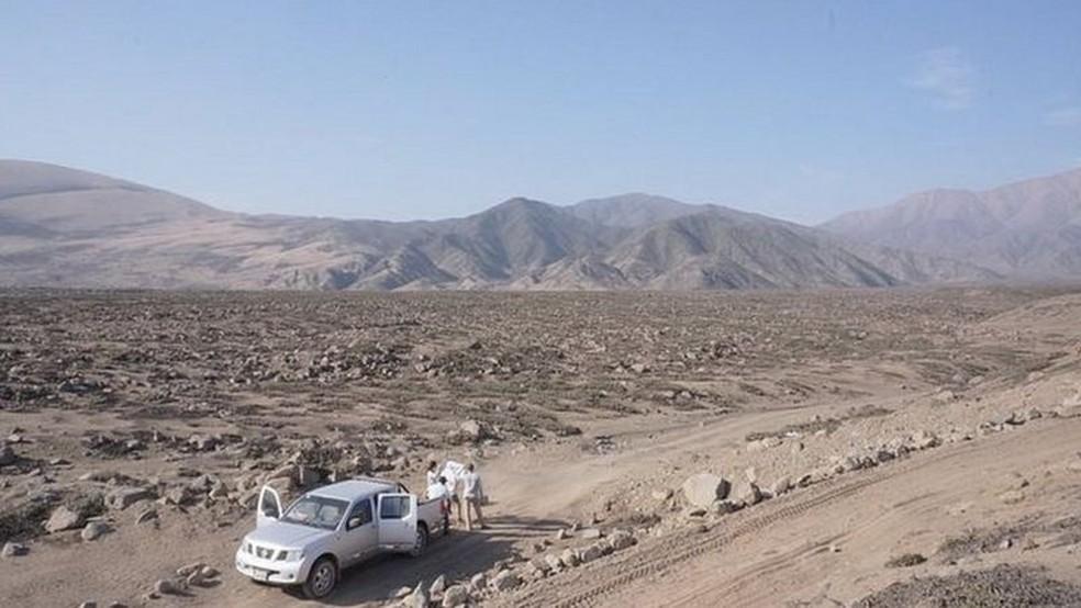 Nesta área sem assentamentos está prevista a construção da nova cidade — Foto: Divulgação/BBC