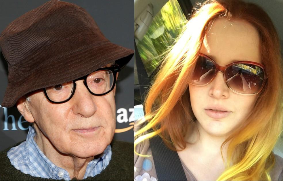 Woody Allen e Dylan Farrow — Foto: REUTERS/Brendan McDermid / Reprodução/Instagram