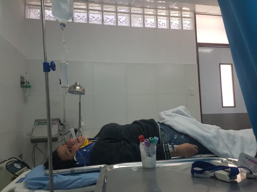 Fisioterapeuta Selma Diógenes passou por uma cirurgia no nariz e não tem previsão de alta médica (Foto: Márcio Valente/Arquivo pessoal)