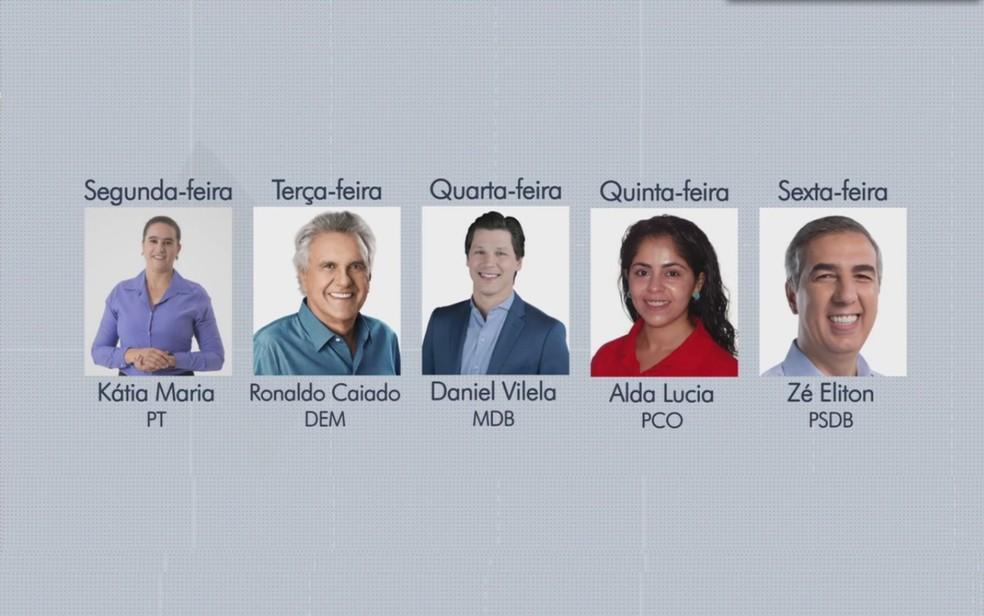 Candidatos ao governo do estado serão entrevistados pelo JA 1ª Edição (Foto: Reprodução/TV Anhanguera)