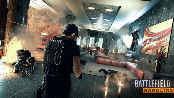 História de Battlefield: Hardline terá um policial incriminado injustamente (Foto: ign.com)