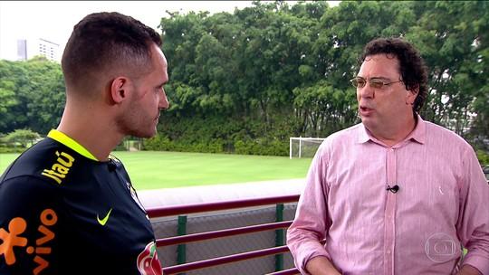Casagrande e Renato Augusto tabelam no Esporte Espetacular