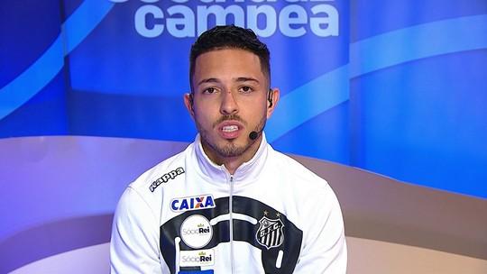 """Jean Mota lamenta empate do Santos após tropeço do Corinthians: """"Frustração"""""""