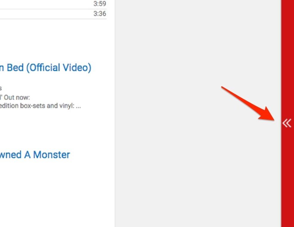 Ação para abrir a lista de vídeos da extensão YouTube Real Time Playlist (Foto: Reprodução/Marvin Costa)