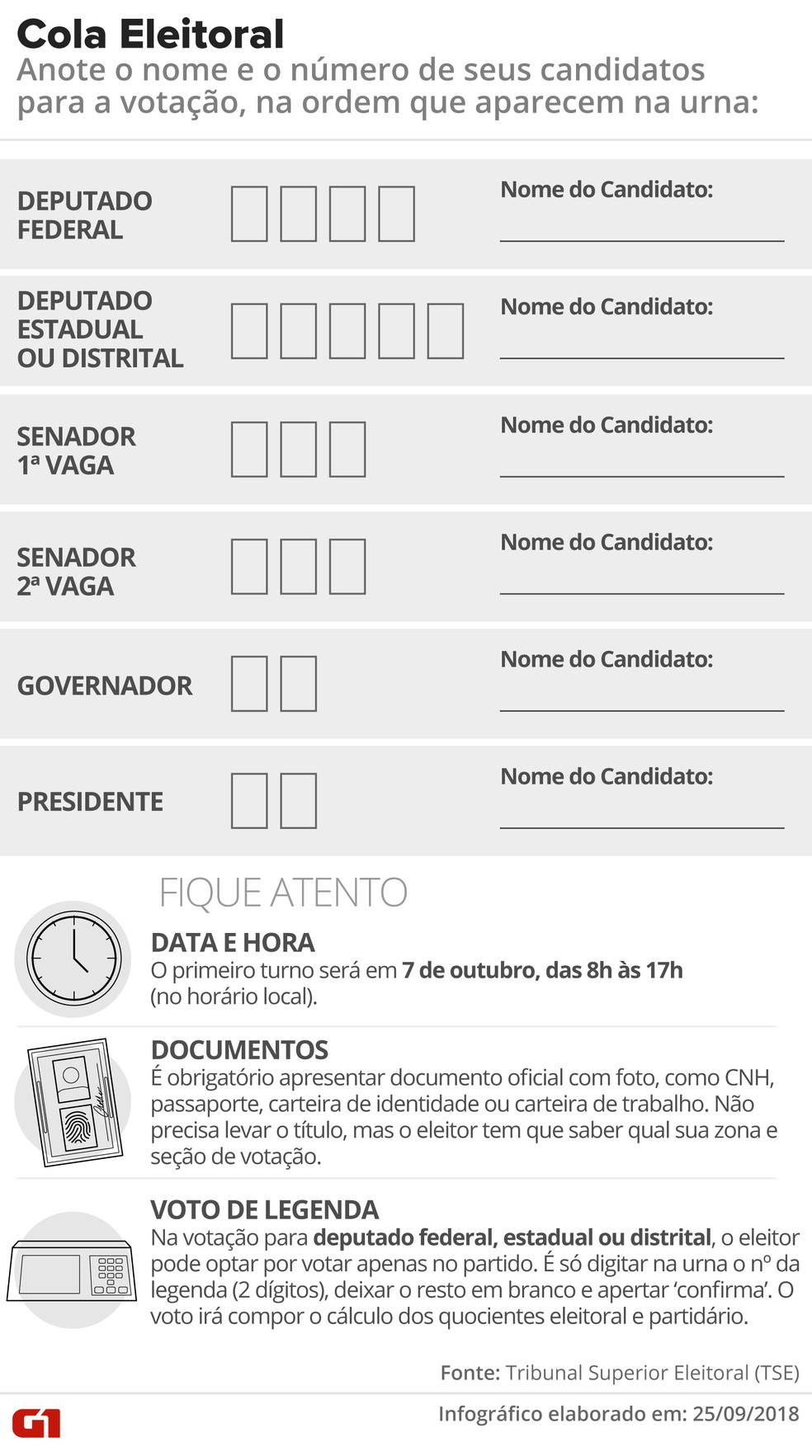 Cola eleitoral para o primeiro turno das eleições 2018 — Foto: Roberta Jaworski/G1