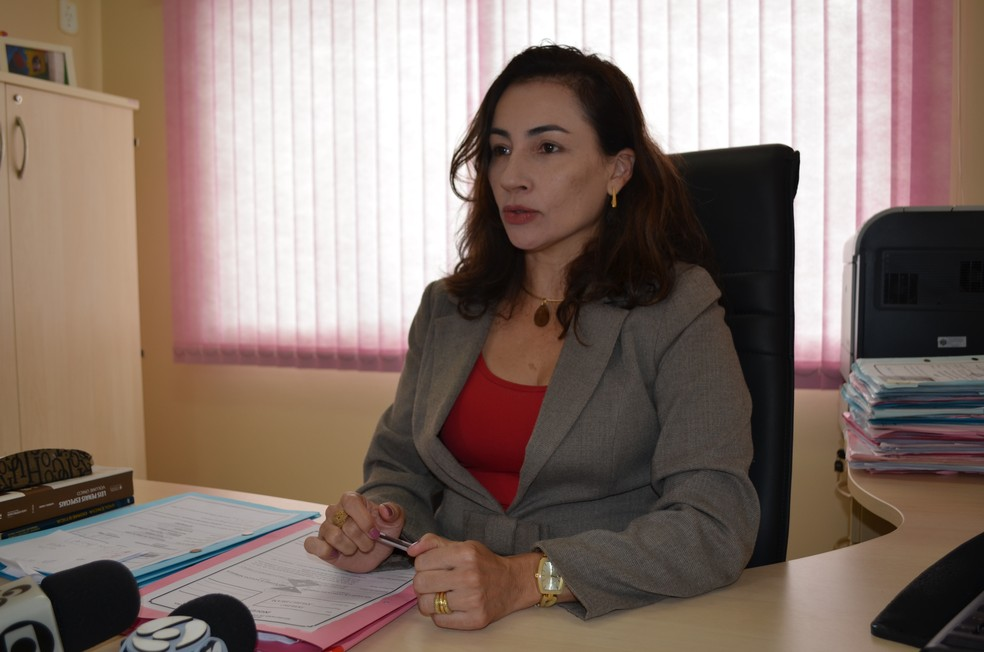 Delegada Solângela Guimarães, em Vilhena (Foto: Eliete Marques/G1)