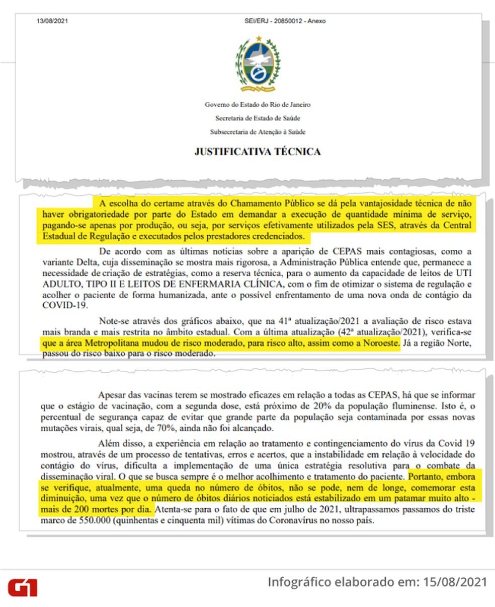 No documento, servidores manifestam a preocupação com o número de mortos no estado — Foto: Reprodução