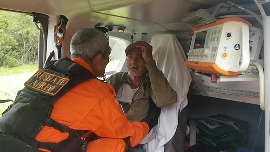 Idoso com Alzheimer é resgatado de helicóptero após 27 h desaparecido
