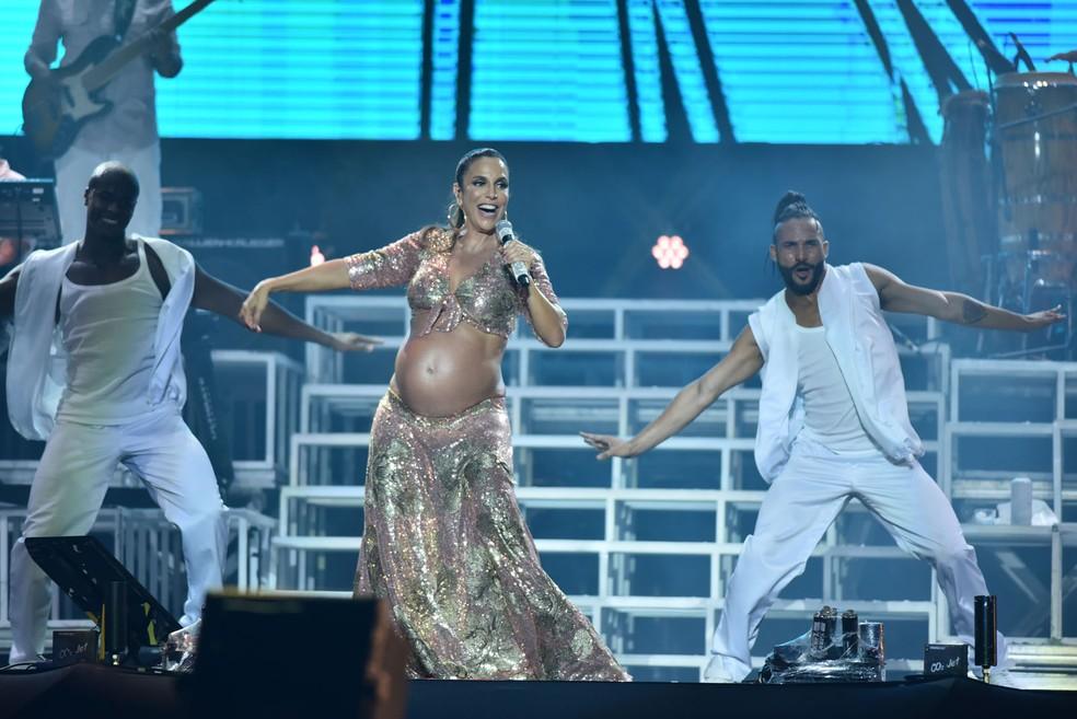 Em 2009, Ivete se apresentou no FV grávida de Marcelo, mas não sabia ainda (Foto: Max Haack/Ag. Haack)