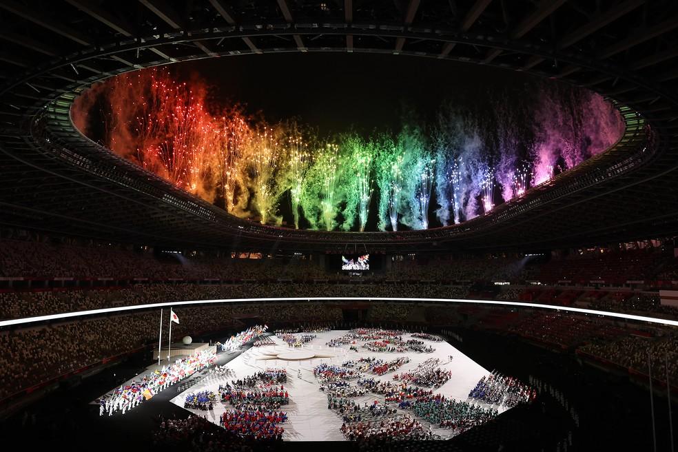 Cerimônia de Abertura das Paralimpíadas de Tóquio — Foto: Alex Pantling/Getty Images