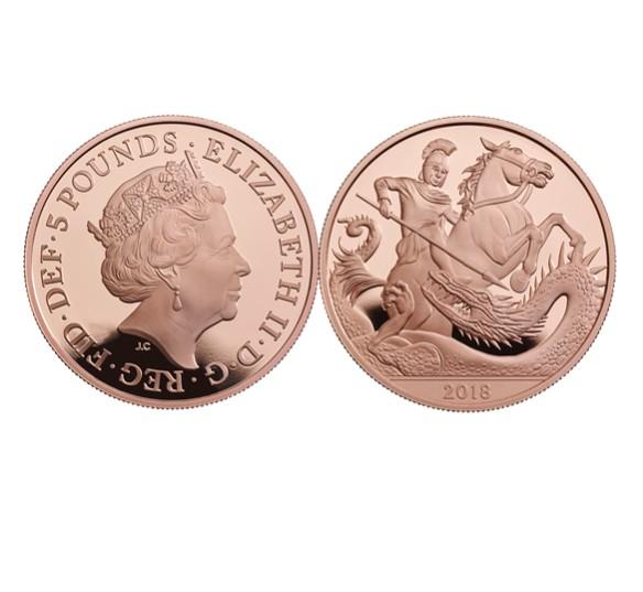 Moeda lançada pela Royal Mint em comemoração aos 5 anos do Príncipe George  (Foto: Reprodução)