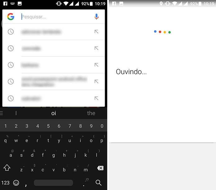 Usuário pode criar lembrete a partir de barra de pesquisa ou comando de voz (Foto: Reprodução/Elson de Souza)