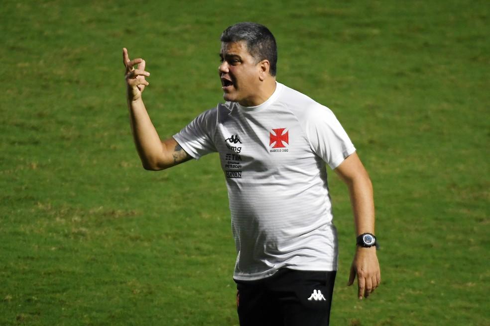 Marcelo Cabo foi demitido nesta segunda, após o empate com Náutico em São Januário — Foto: Alexandre Durão