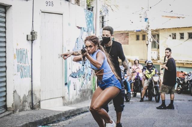 Dandara Mariana grava clipe (Foto: Divulgação)