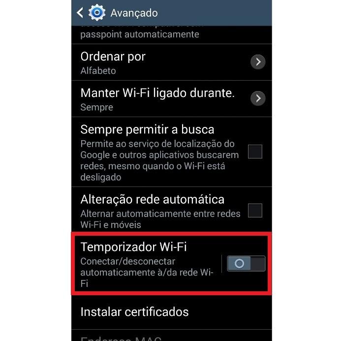 Configurações avançadas do Wi-Fi no Android (Foto: Reprodução/Lívia Dâmaso)