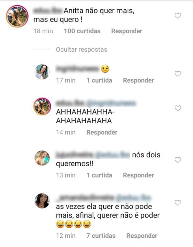 Fãs passam cantadas em Thiago Magalhães (Foto: Reprodução/Instagram)