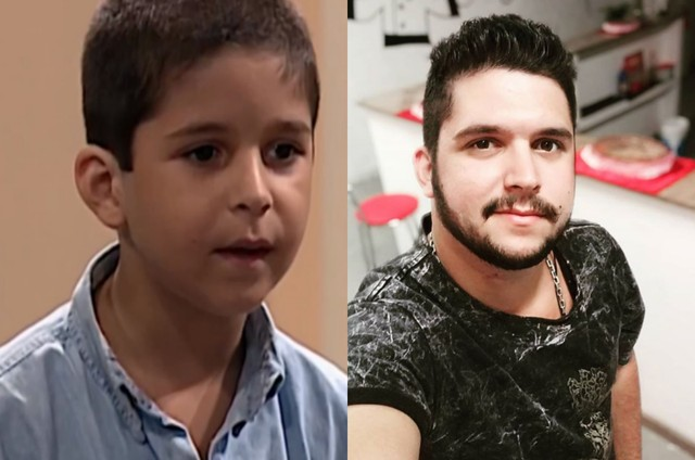 Leo Lemos em 'Por amor' e atualmente (Foto: TV Globo - Reprodução/Instagram)