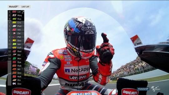 Em prova com abandono de metade dos pilotos, Lorenzo vence na Catalunha