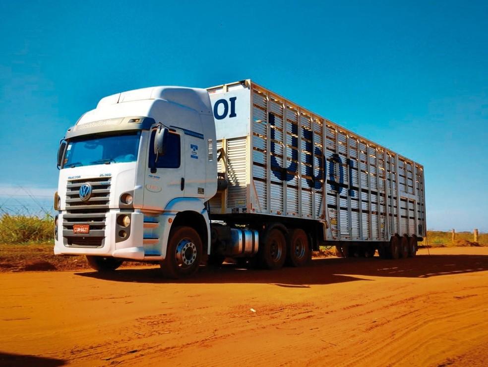 Caminhão da Uboi, aplicativo para transporte de gado — Foto: JBS/Divulgação