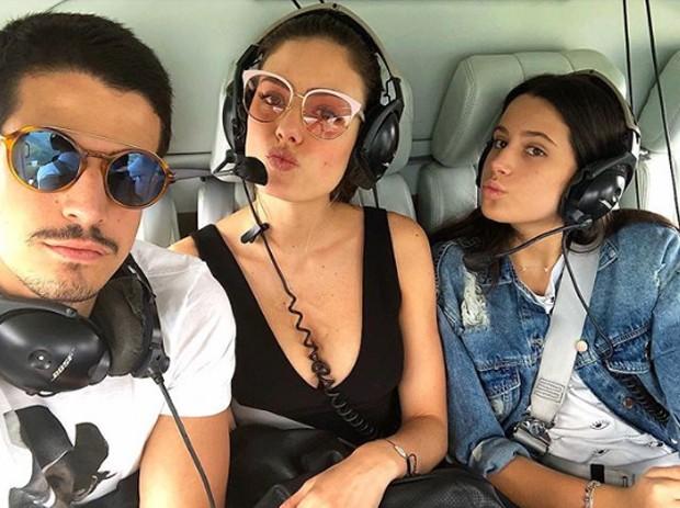 Enzo Celulari, Victoria Bartelle e Sophia Raia (Foto: Reprodução / Instagram)