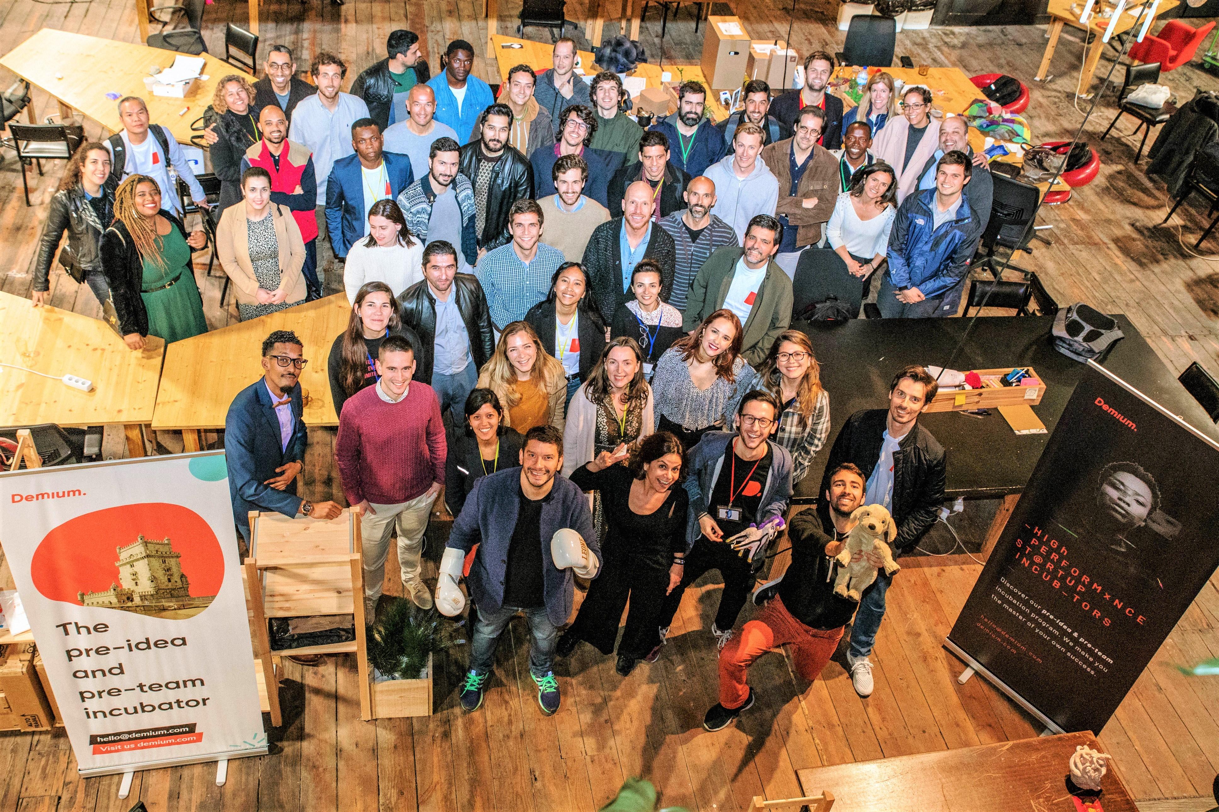 Participantes de uma seleção da Demium em Lisboa