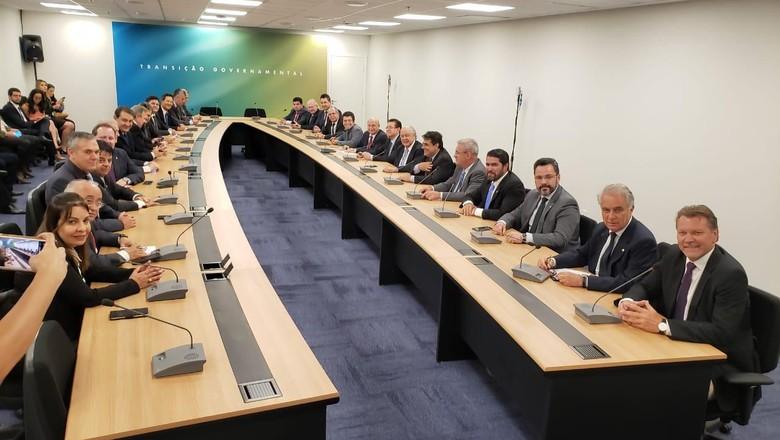 Reunião dos ruralistas com Jair Bolsonaro em 7/11 (Foto: Divulgação/FPA)