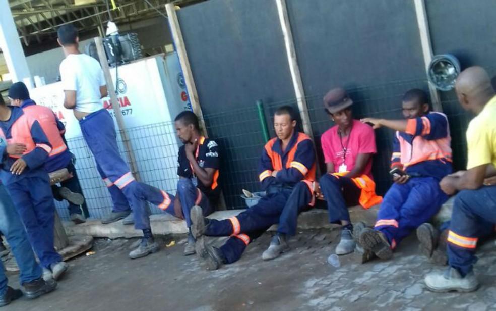 Operários passaram mal após consumirem refeição na empresa (Foto: Arquivo Pessoal)