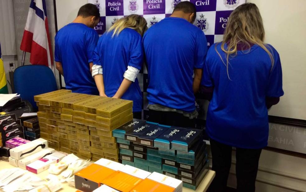 Quadrilha que vendia botox e anabolizantes ilegais lucrou R$ 1 milhão com golpe na Bahia (Foto: Maiana Belo/G1 BA)