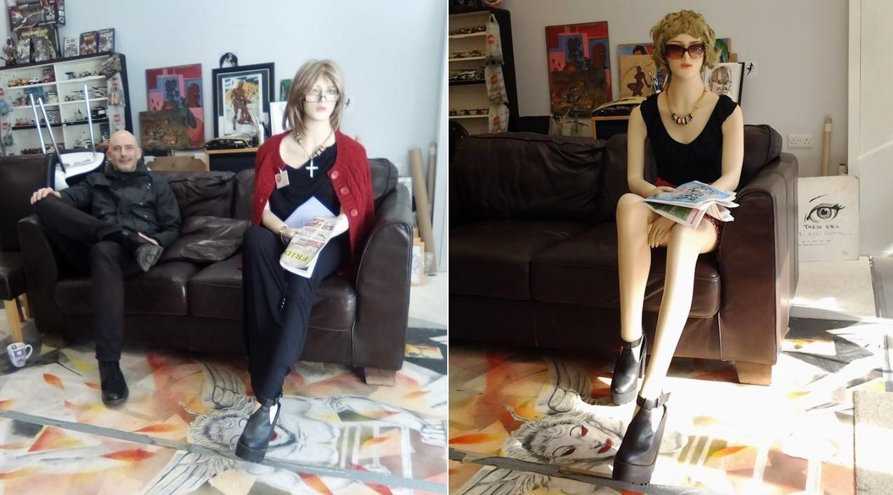 A boneca é uma das atrações do estúdio Demuz Art, na Inglaterra
