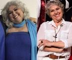 Sônia de Paula antes e depois da cirurgia bariátria | Arquivo pessoal
