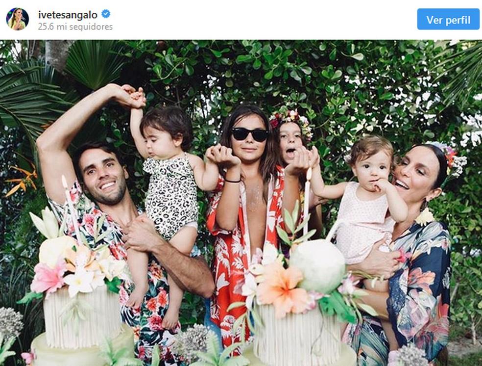 Ivete faz post em homenagem ao 1º aniversário das gêmeas — Foto: Reprodução/Instagram/Ivete Sangalo