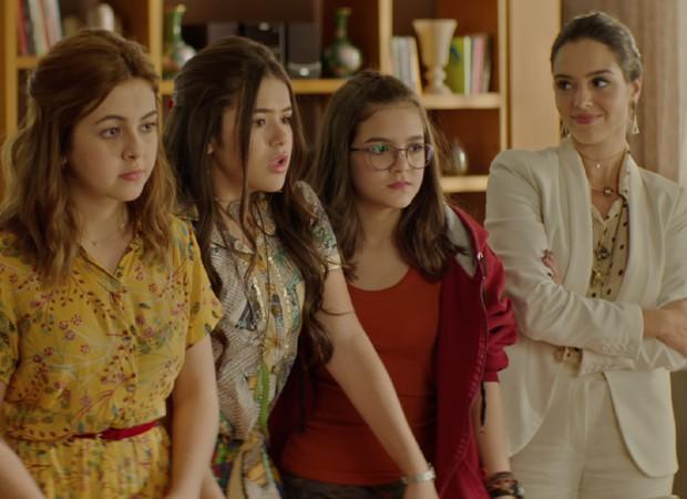 Klara Castanho, Maisa Silva, Mel Maia e Giovanna Lancellotti em cena de Tudo por um PopStar (Foto: Divulgação)