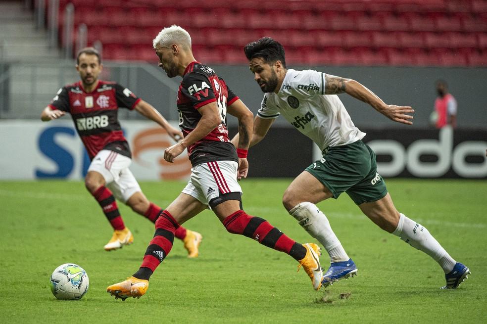 Arrascaeta, Flamengo x Palmeiras — Foto: Alexandre Vidal / Flamengo