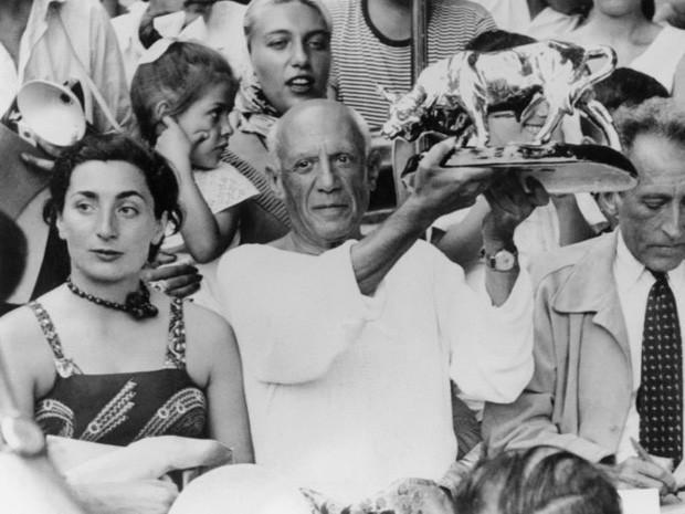 Foto de Picasso e sua segunda esposa, Jacqueline Roque (Foto: Divulgação)
