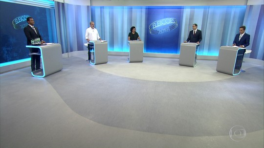 Candidatos ao governo de Pernambuco participam de debate na TV Globo