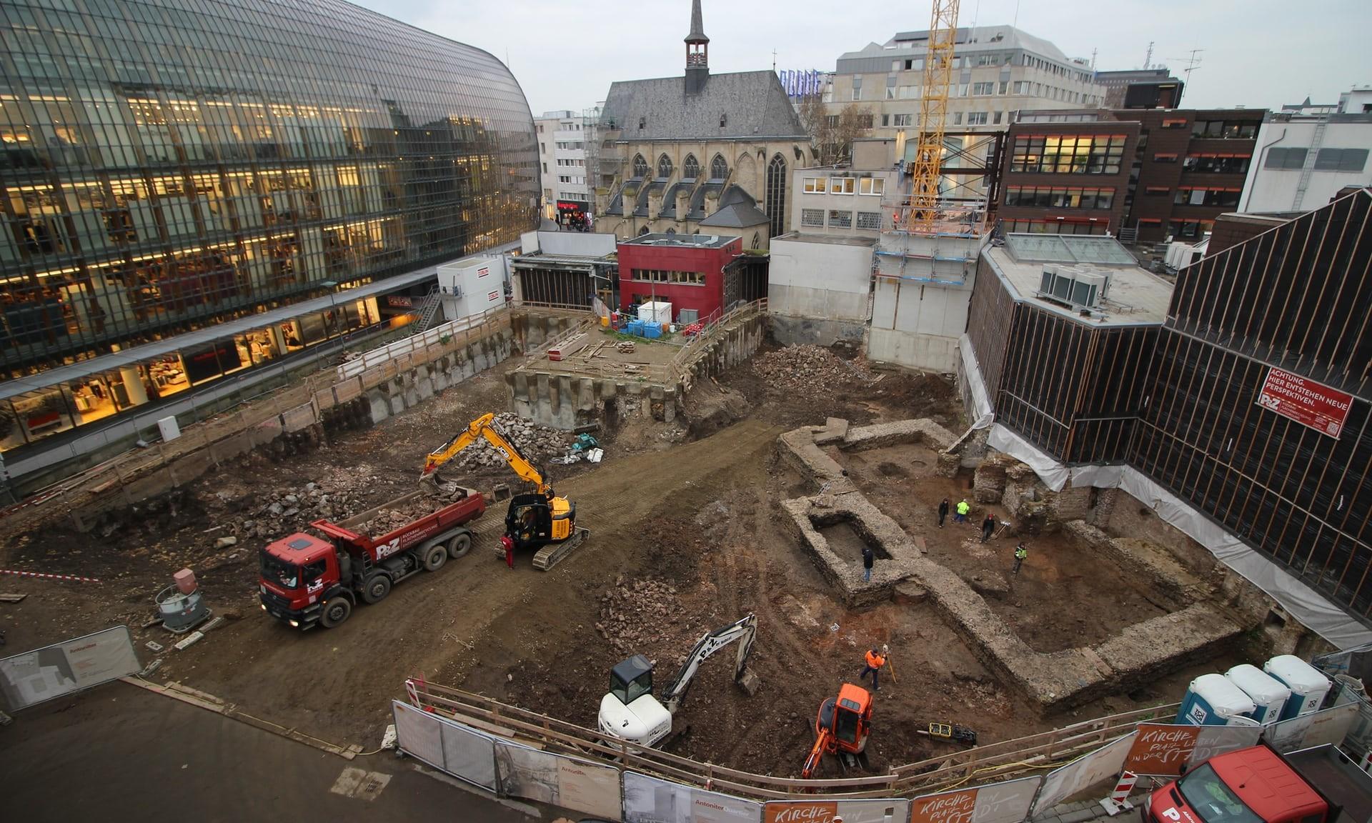 Estrutura foi encontrada durante construção de centro comunitário em Colônia, na Alemanha (Foto: Museu Romano-Germânico de Colônia)