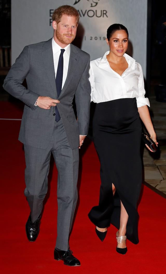 Príncipe Harry e Meghan Markle chegam ao Endeavour Awards, em Londres (Foto: Getty Images)