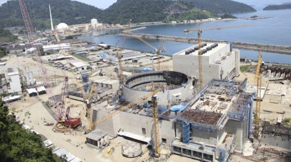Obras da usina de Angra 3, no Rio (Foto: Divulgação)