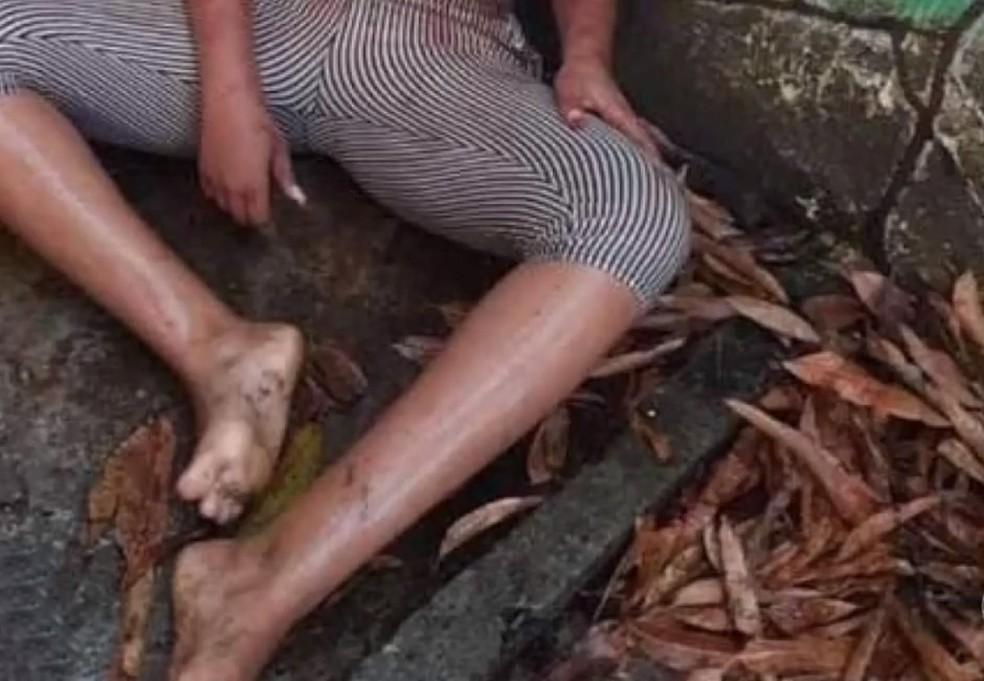 Após assassinato de homens por roubo de carne em supermercado na BA, jovem relata tortura depois de furto no mesmo local — Foto: Reprodução/TV Bahia