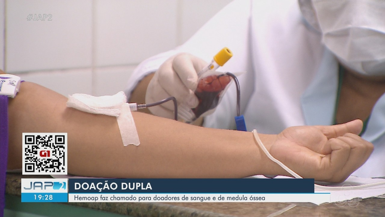 Doação dupla: Hemoap chama doadores de sangue e de medula óssea para abastecer estoque