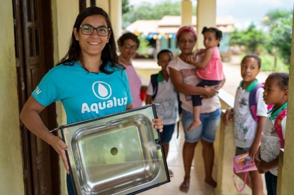 Anna Luisa Beserra, criadora do Aqualuz (Foto: Reprodução/ONU)