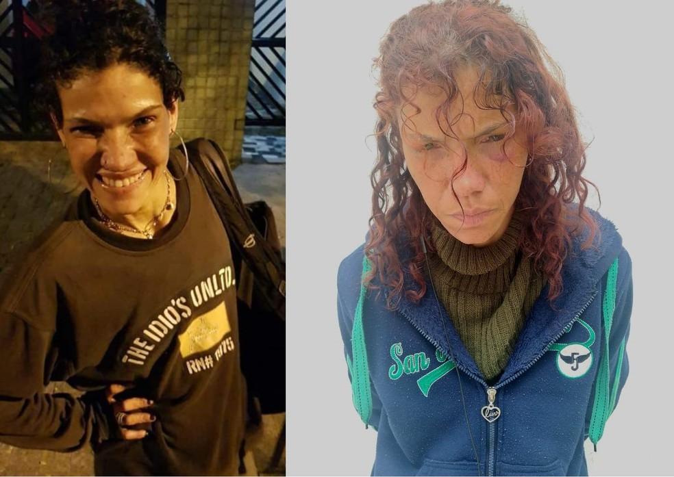 Mulher foi presa pela polícia por furtos em série em Santos, SP — Foto: Divulgação/Polícia Militar