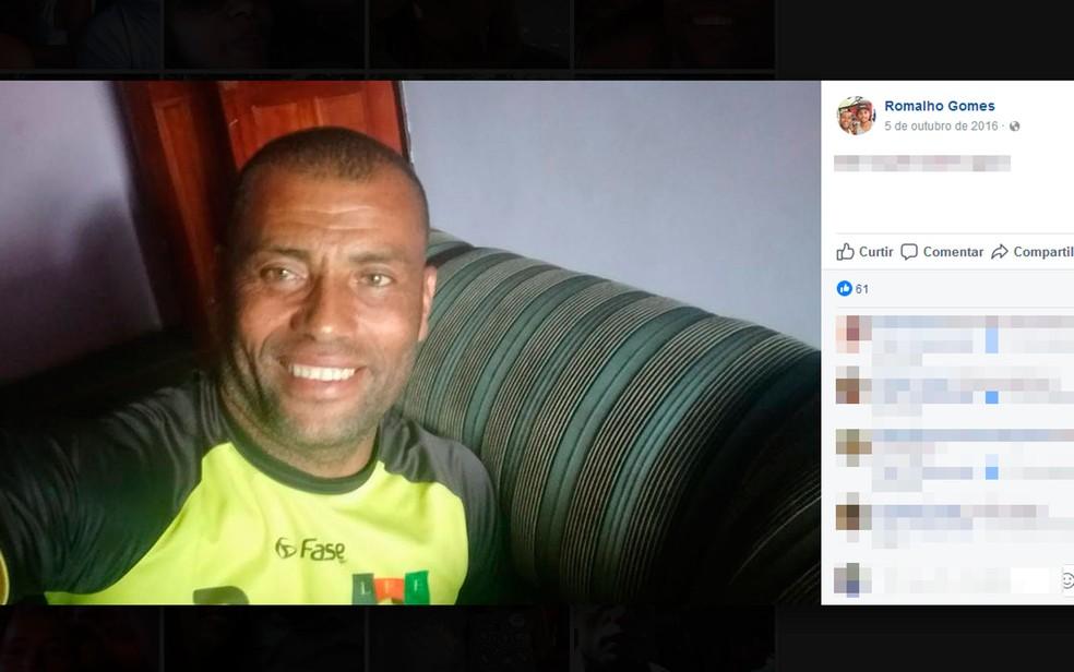 Romalho tinha 48 anos e era funcionário da prefeitura de Itagimirim (Foto: Reprodução / Facebook)