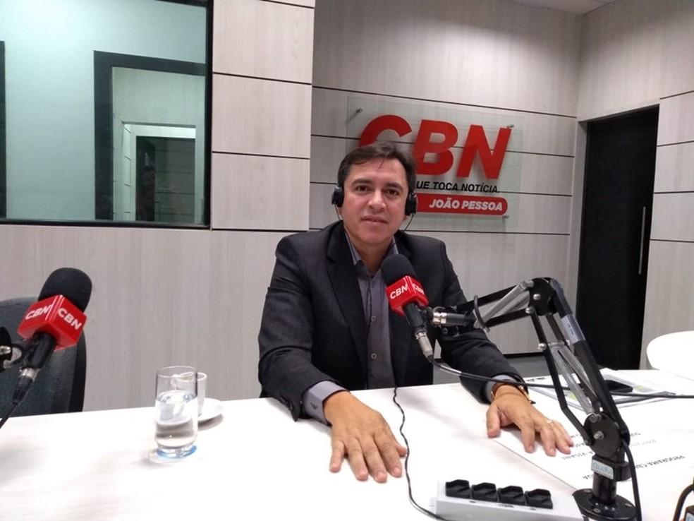 Jean Francisco Nunes, secretário de segurança da Paraíba, prometeu força-tarefa contra ataques a bancos em entrevista em janeiro — Foto: Angélica Nunes/Jornal da Paraíba